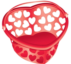 Heart Shaped Red Container | Valentines supplies