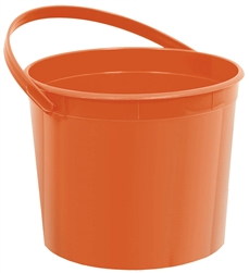 Orange Bucket With Handles | Party Supplies
