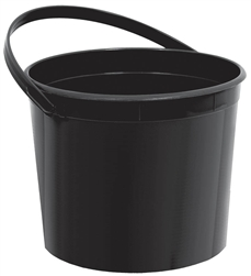 Black Bucket with Handles | Party Supplies