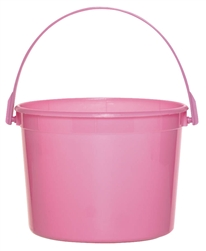 Pink Plastic Bucket | Valentines supplies