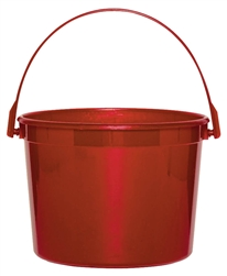 Red Plastic Bucket | Party bucket
