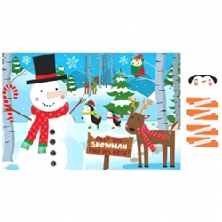 Pin-The-Nose On the Snowman Game | Party Supplies