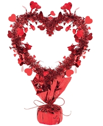 "Heart Centerpiece - 8-3/4"" x 14"" 