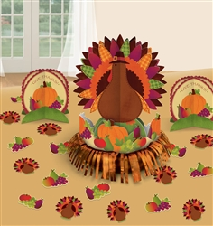 Thanksgiving Fringe Table Decorating Kits | Party Supplies