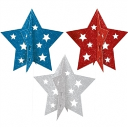 Patriotic Mini 3-D Centerpieces | Party Supplies