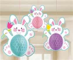 Easter Bunny Honeycomb Decorations | Party Supplies