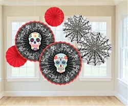 Black & Bone Fan Decorations