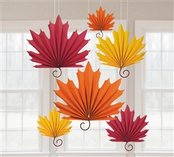 Leaf-Shaped Fans | Party Supplies