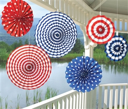 Patriotic Paper Fan Decorations | Party Supplies