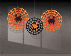 Spider Web Fans with Spiders