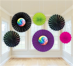 Disco Fever Paper Fan Decoration | Party Supplies