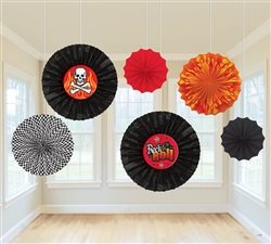 Rock On Paper Fan Decorations | Party Supplies