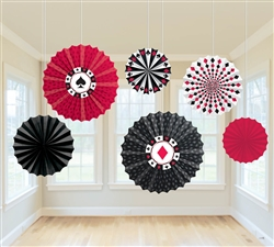 Place Your Bets Printed Fan Decorations | Party Supplies