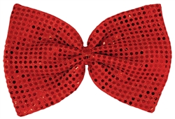 Sequined Giant Bowtie - Red | Party Supplies