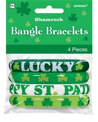 Shamrock Bangle Set | St. Patrick's Day Braclets