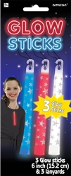 Patriotic Printed Glow Sticks | Party Supplies