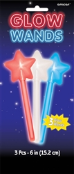 Patriotic Mini Glow Star Wands | Party Supplies