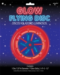 Patriotic Glow Flying Disc | Party Supplies