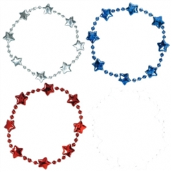 Patriotic Beaded Bracelets | Party Supplies