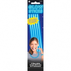 Blue Glow Sticks, 5ct | Party Supplies