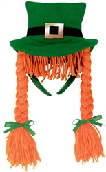 St. Patrick's Day Braids Headband | St. Patrick's Day Headband Hat