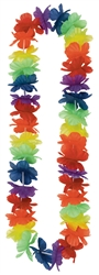 Rainbow Hawaiian Leis | Party Supplies