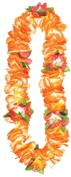 Orange Soft Petals Leis | Party Supplies