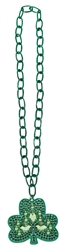 Shamrock Pendant Necklace with Link Chain | St. Patrick's Day Shamrock Neckalce