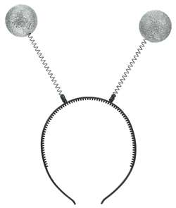 Silver Martian Antennas | Halloween Party Supplies