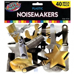 Black, Gold & Silver Mega Pack Noisemakers | Party Supplies