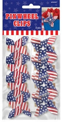 Patriotic Pinwheel Clips | Party Supplies