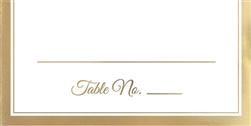 Place Cards with Gold Trim - 50ct. | Party Supplies