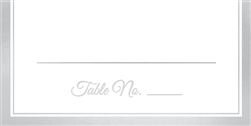Place Cards with Silver Trim - 50ct. | Party Supplies