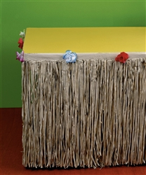 Natural Tissue Table Skirts | Luau Party Supplies
