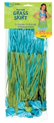 Blue/Green Two-Tone Hula Skirt - Child | Party Supplies