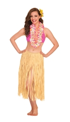 Natural Grass Skirt - Adult | Party Supplies