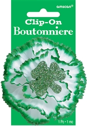 Carnation Boutonniere | St. Patrick's Day Boutonniere