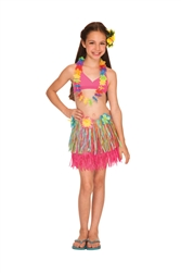 Rainbow Hula Skirt - Child | Luau Party Supplies
