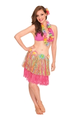 Rainbow Hula Skirt - Adult | Luau Party Supplies