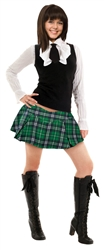 Green Plaid Mini Skirt | St. Patrick's Day Skirt