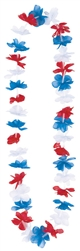 Patriotic Flower Lei | Party Supplies
