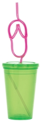 To Go Cup with Flip Flop Straw | To Go Cup