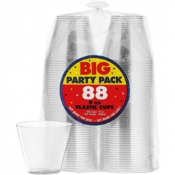 Big Party Pack Clear Plastic Tumblers, 9oz. | Party Supplies