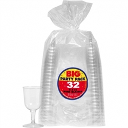 Big Party Pack Clear Plastic Wine Glasses, 5-1/2oz. | Party Supplies