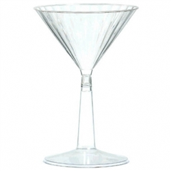 Clear Premium Quality Boxed Martini Glasses | Party Supplies