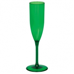 Green Champagne Glass | Party Supplies