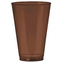 Chocolate Brown Tumblers, 14 oz., - 36ct | Party Supplies