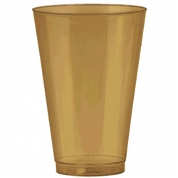 Gold Tumblers, 14 oz. - 36ct. | Party Supplies