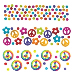 Feeling Groovy Value Pack Confetti | Party Supplies
