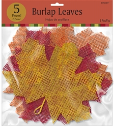 Burlap Leaves w/Wire Hanger | Party Supplies